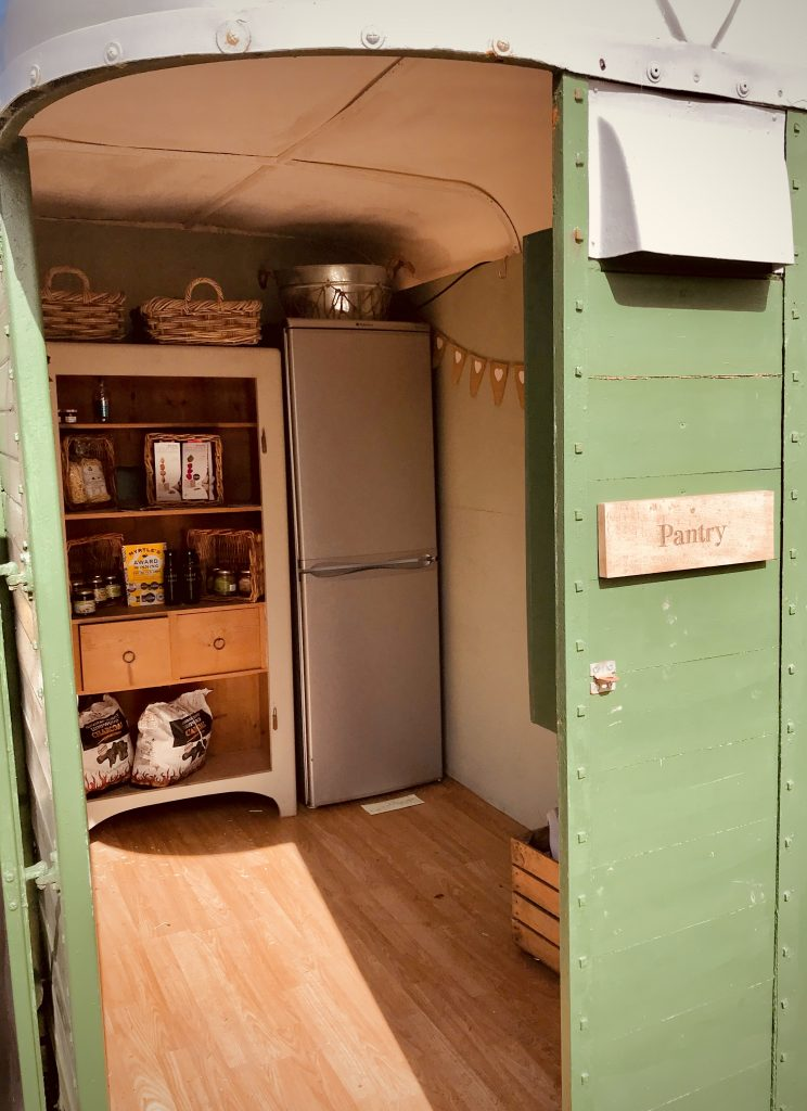 Pantry in horse box