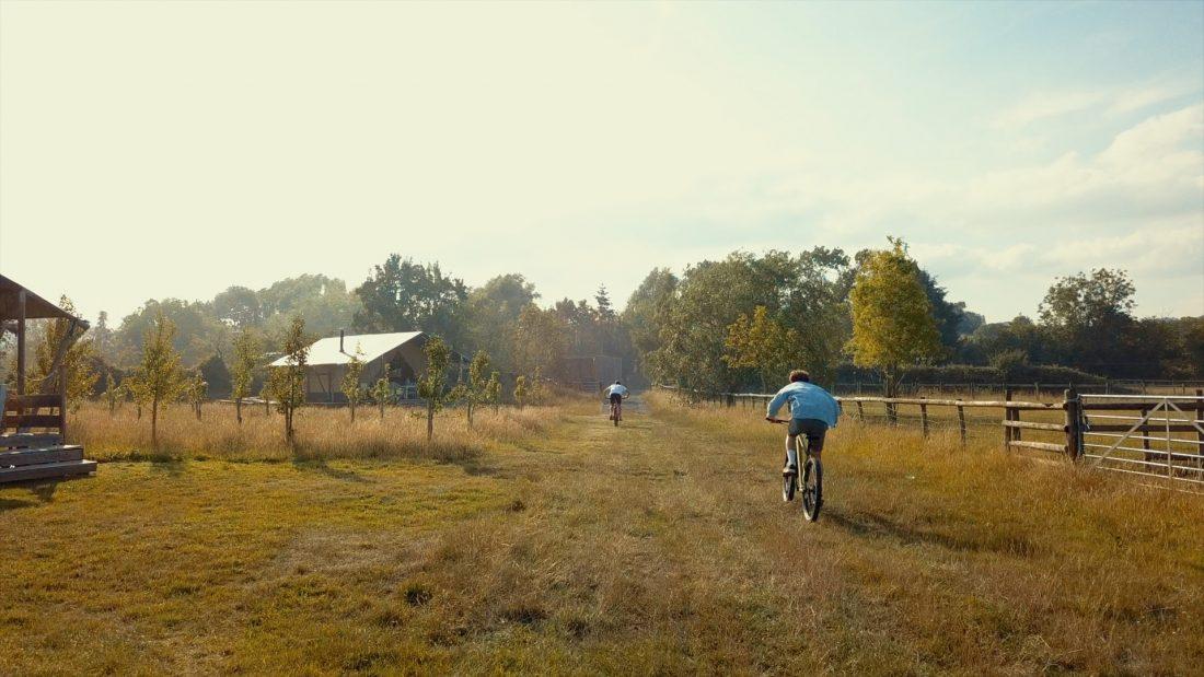 cycling at Upsticks Glamping